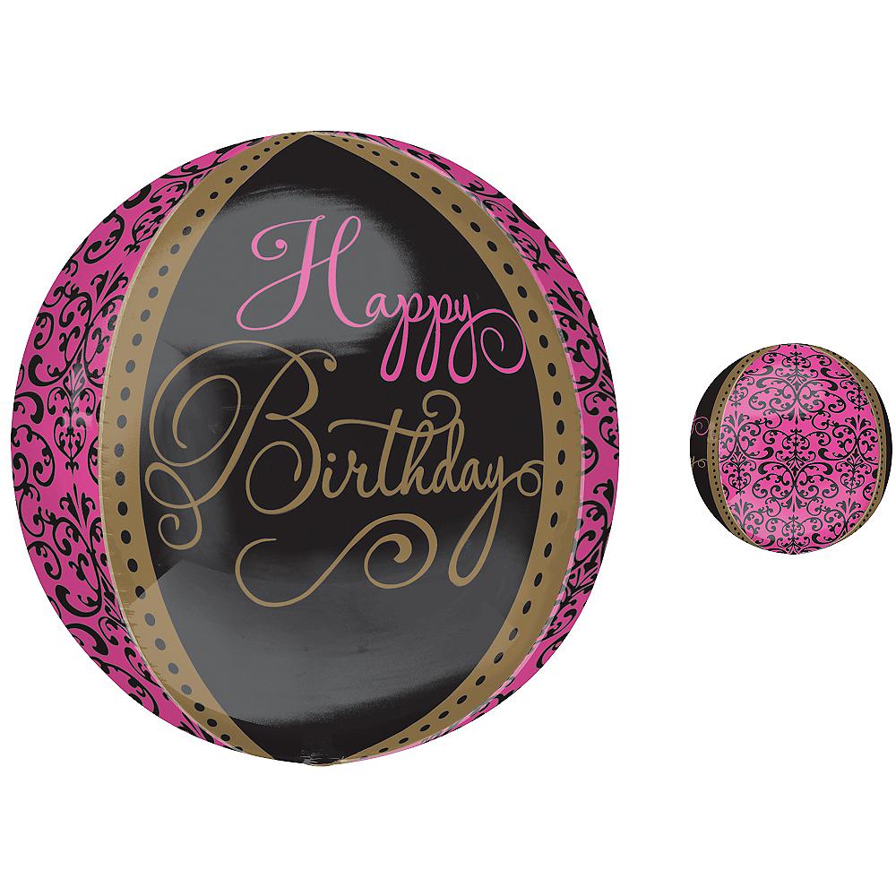 Damask Happy Birthday Balloon - Orbz Fabulous Celebration Image #1