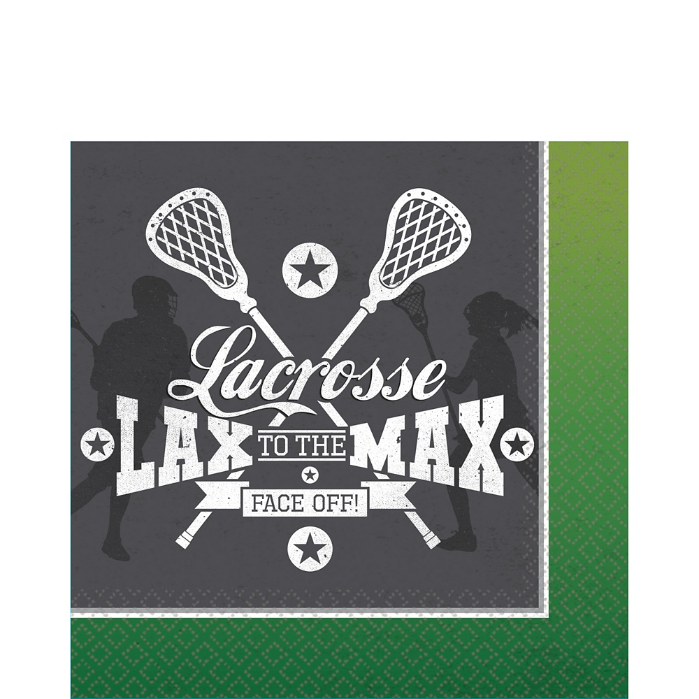 Lacrosse Lunch Napkins 16ct Image #1