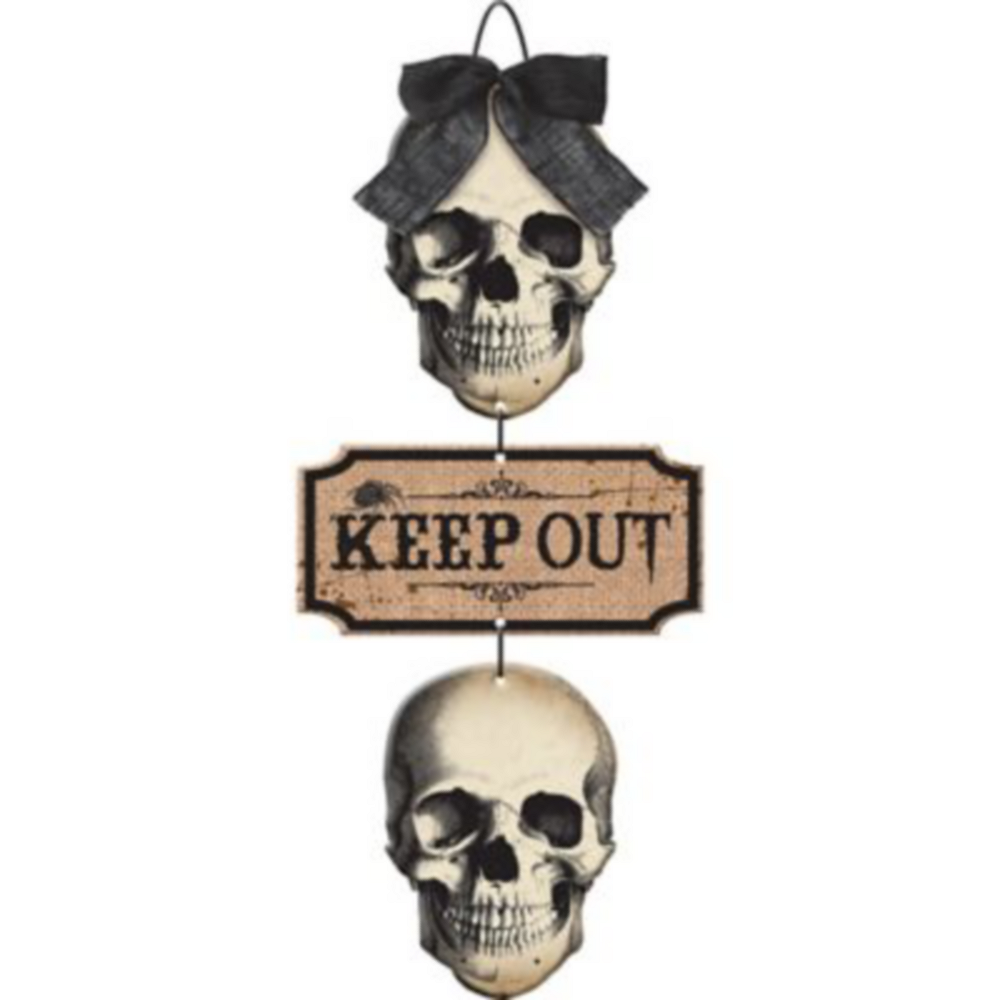 Boneyard Skulls Keep Out Stacked Sign Image #1