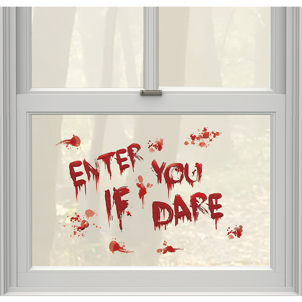 Enter If You Dare Bloody Cling Decals 13ct Image #1
