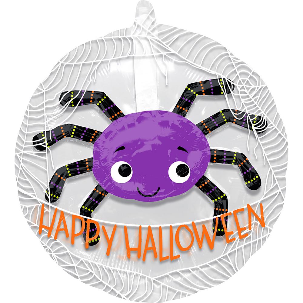 Purple Spider Balloon - See Thru, 24in Image #1