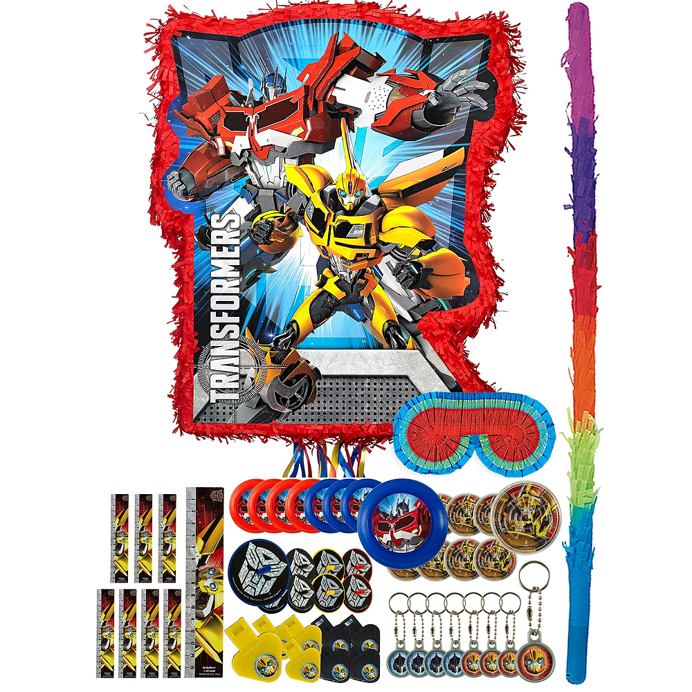 Red Transformers Pinata Kit with Favors Image #1