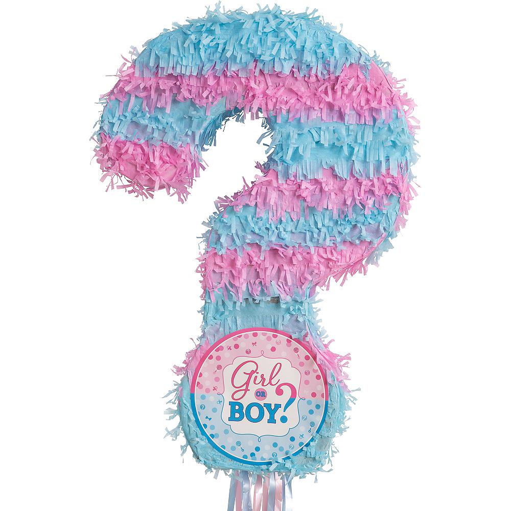 Pull String Girl or Boy Gender Reveal Pinata Image #1