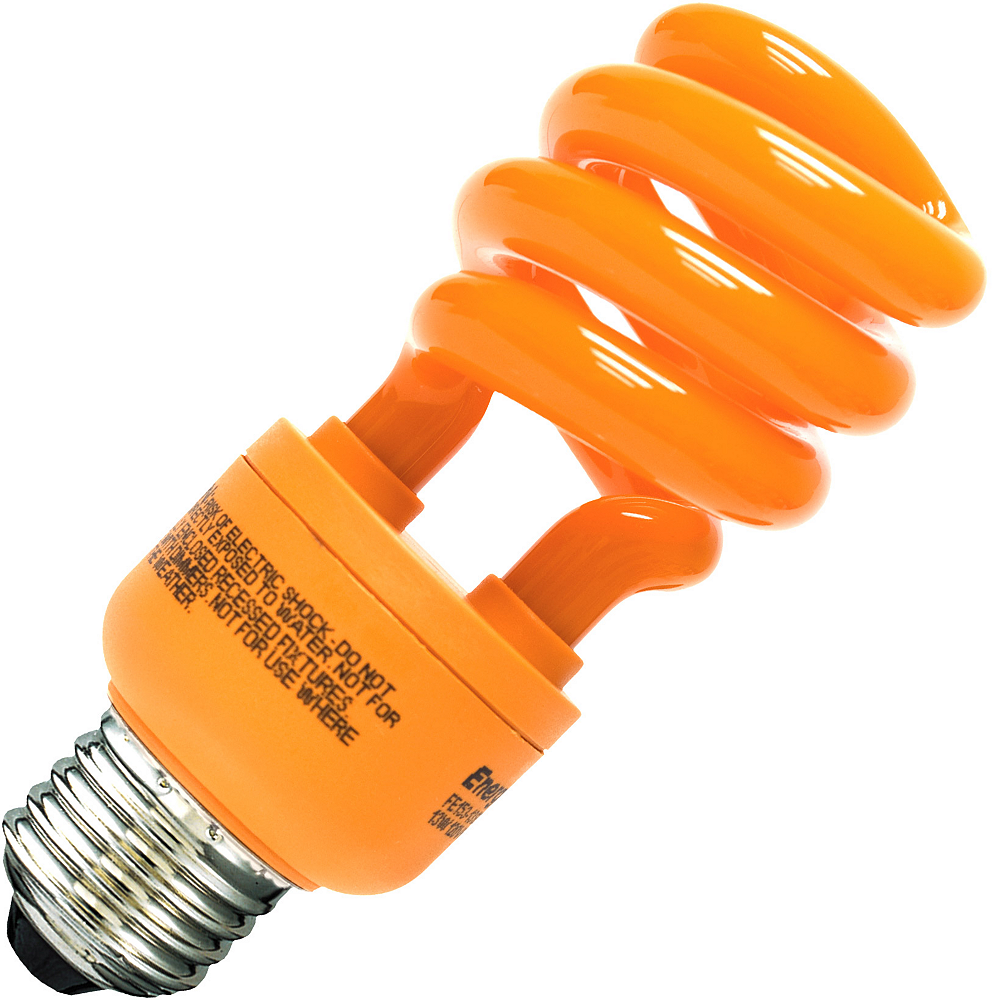Orange CFL Light Bulb Image #1