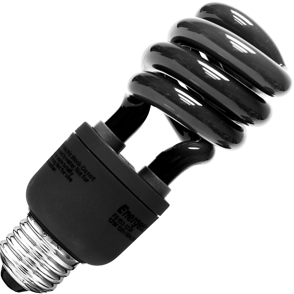 Black CFL Light Bulb Image #1