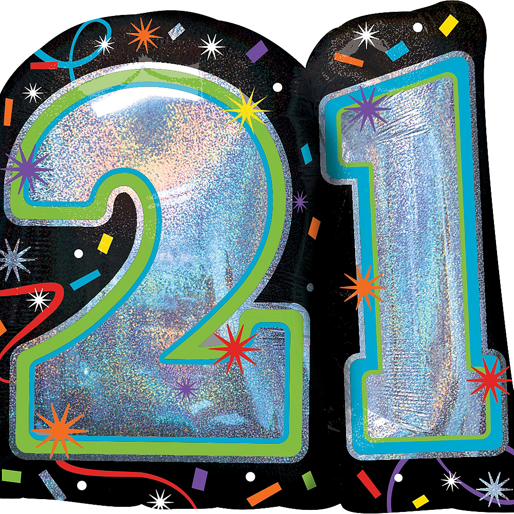 Brilliant 21st Birthday Balloon 27in X 26in