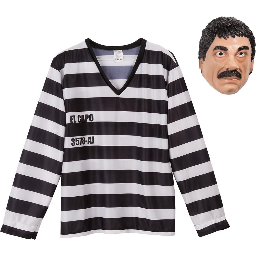 El Capo Inmate Costume Kit 2pc Image #3
