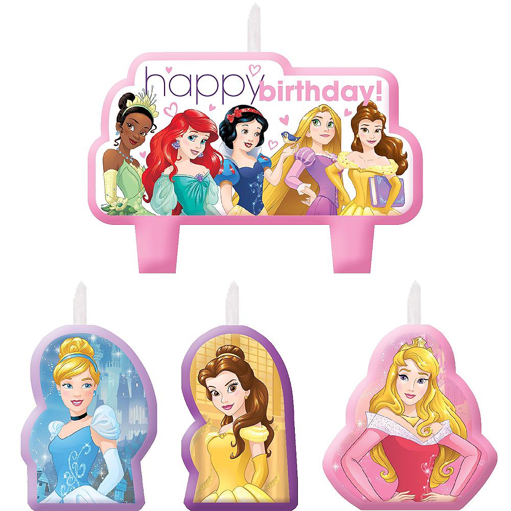 Disney Princess Birthday Candles 4ct Image 1