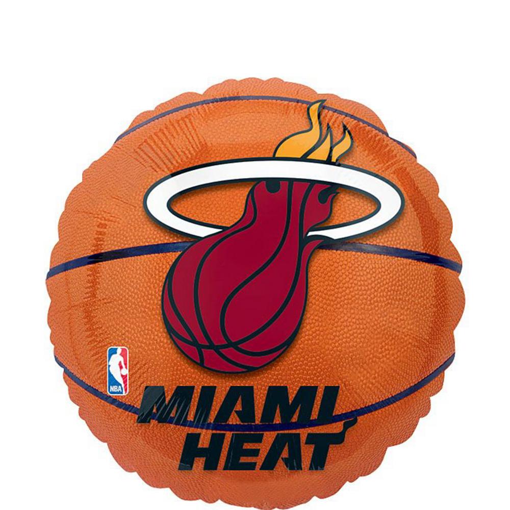 Miami Heat Balloon Bouquet 5pc - Basketball Image #2
