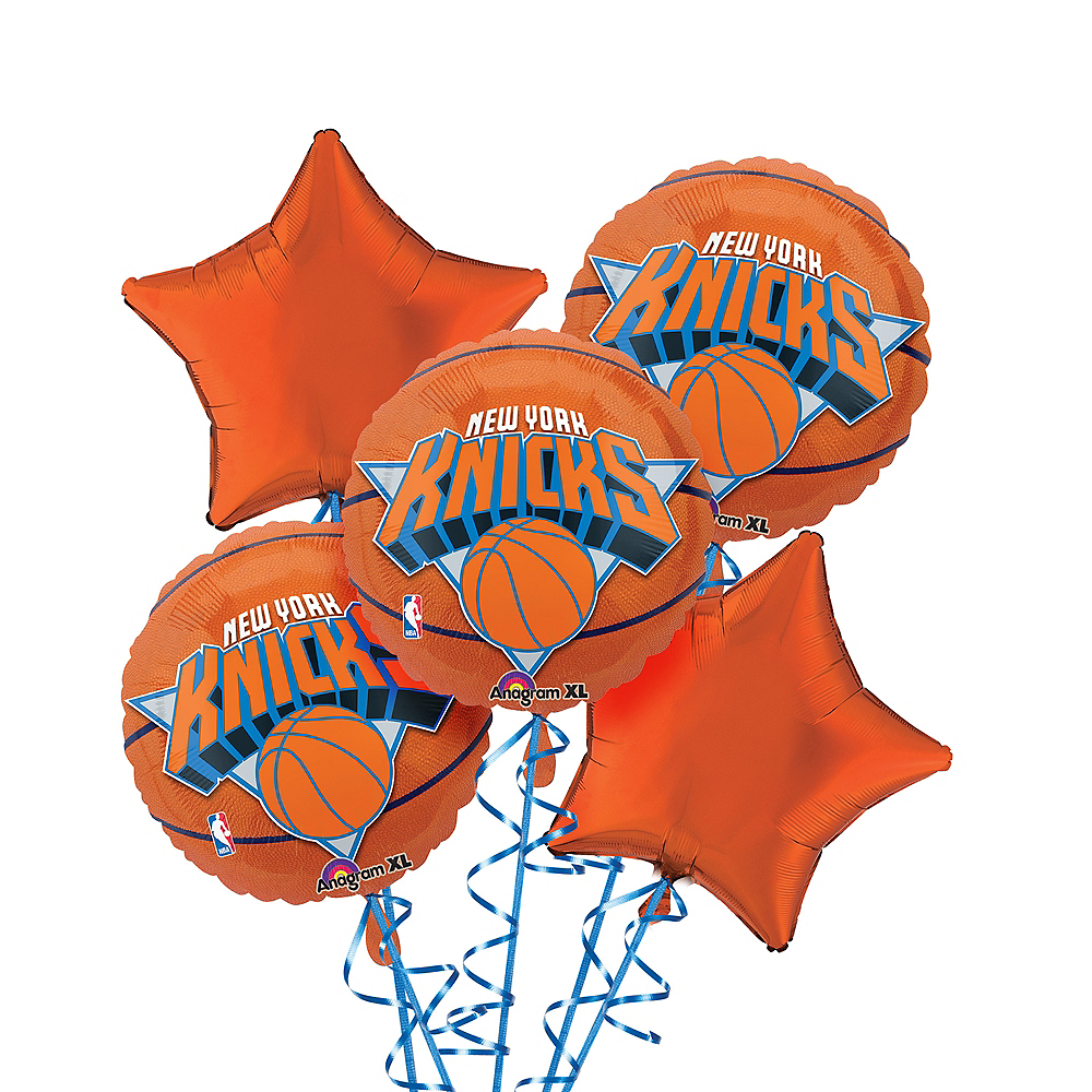 New York Knicks Balloon Bouquet 5pc - Basketball Image #1