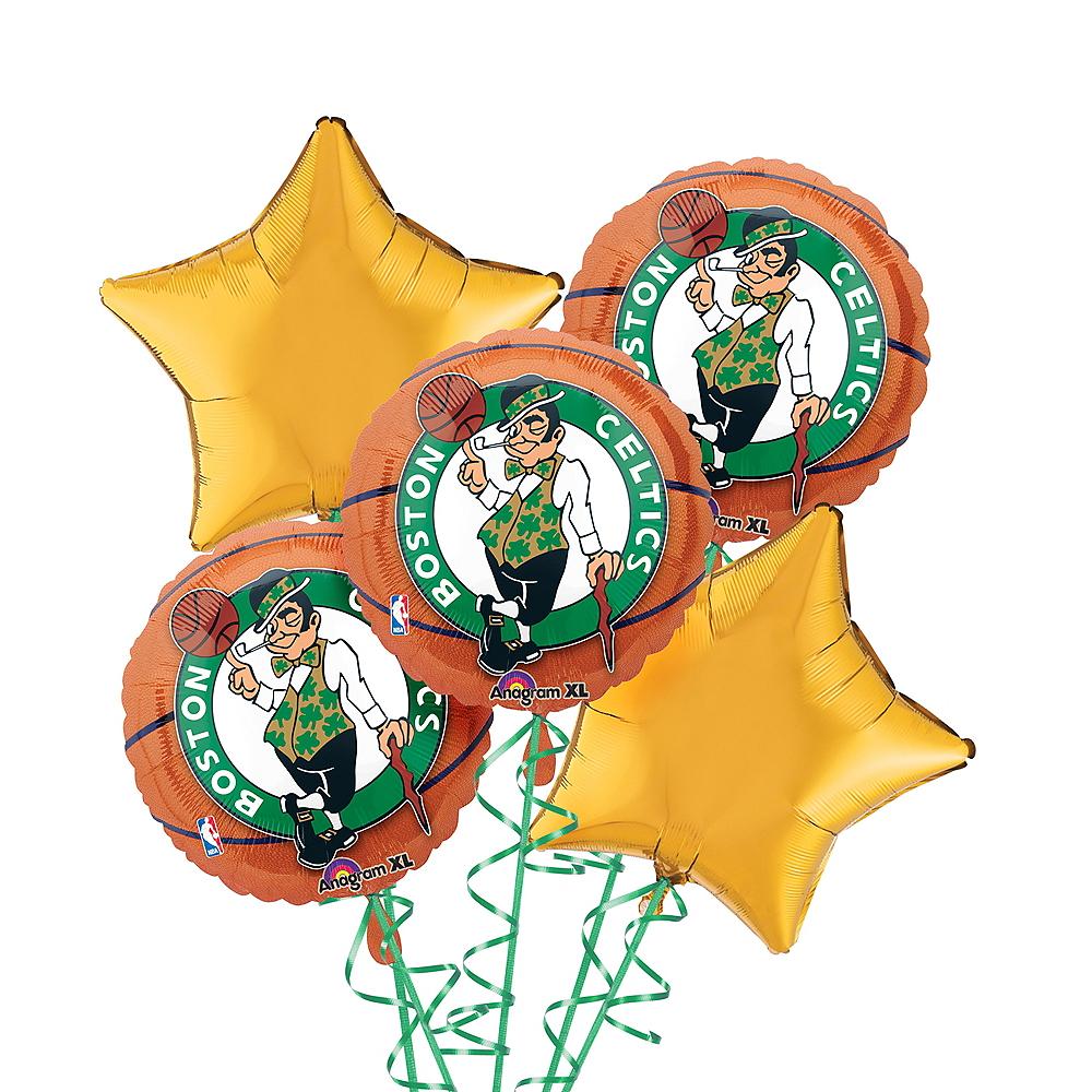 Boston Celtics Balloon Bouquet 5pc - Basketball Image #1