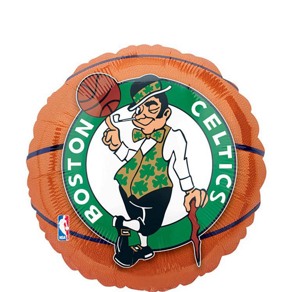 Boston Celtics Balloon Bouquet 5pc - Basketball Image #2