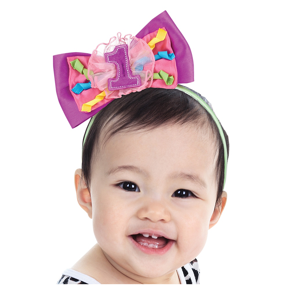 1st Birthday Bow Headband Image #1