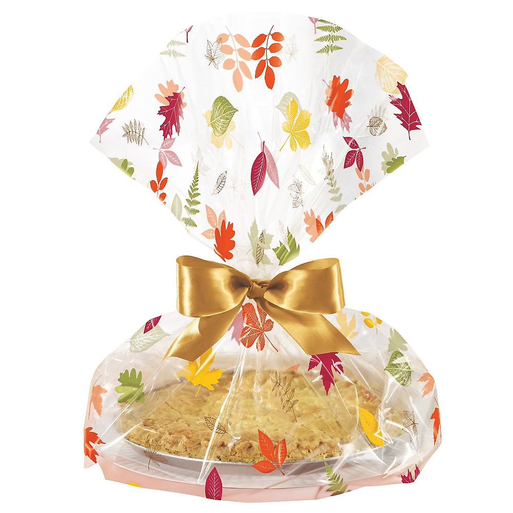 Fall Pie Treat Tray Bags 6ct Image #1