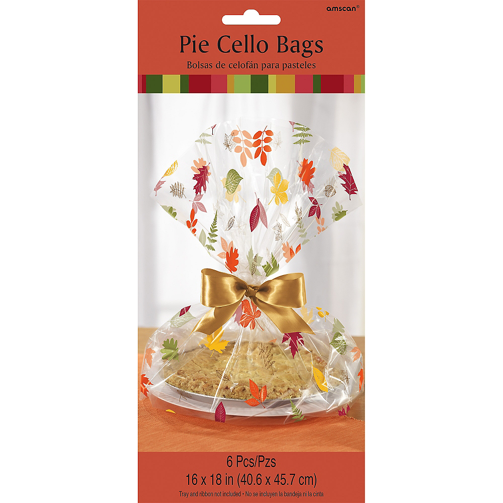 Fall Pie Treat Tray Bags 6ct Image #2