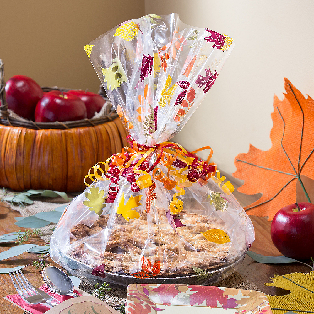 Fall Pie Treat Tray Bags 6ct Image #3