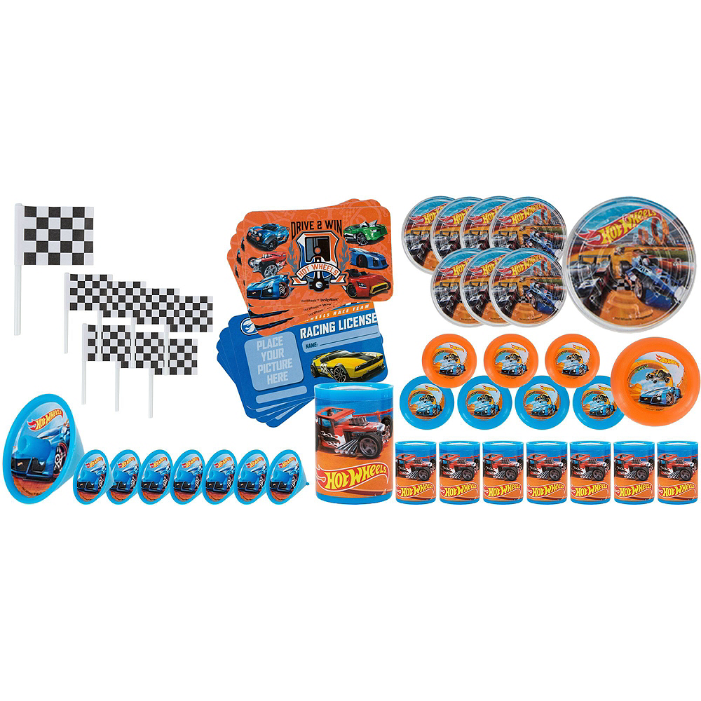 Nav Item for Yellow Race Car Pinata Kit with Favors - Hot Wheels Image #4