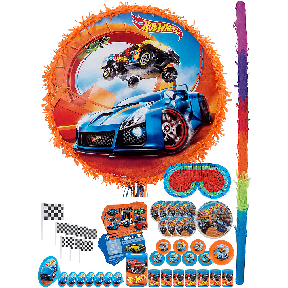 Nav Item for Orange Hot Wheels Pinata Kit with Favors Image #1