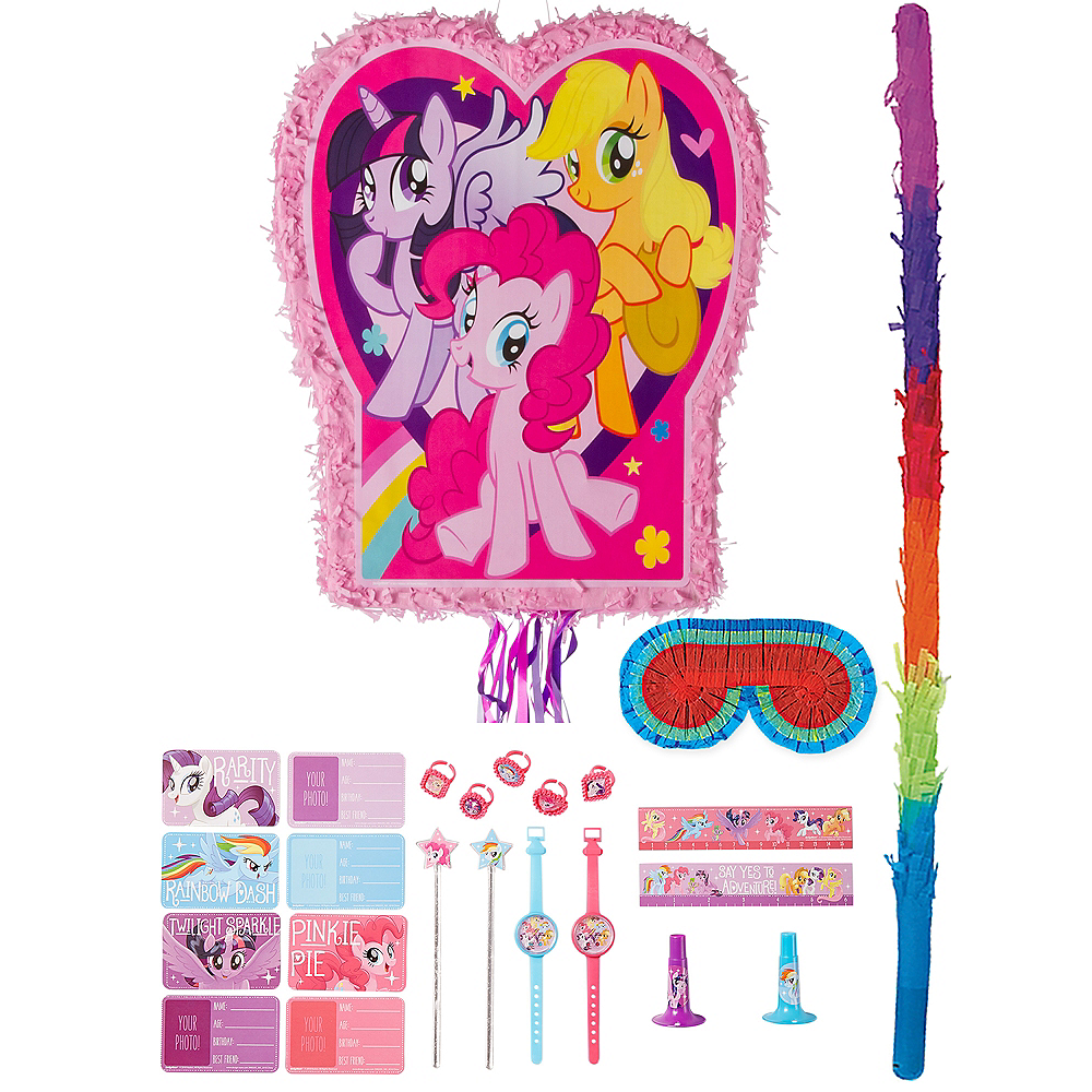Pink My Little Pony Pinata Kit with Favors Image #1