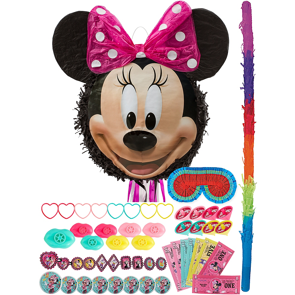 Smiling Minnie Mouse Pinata Kit with Favors Image #1