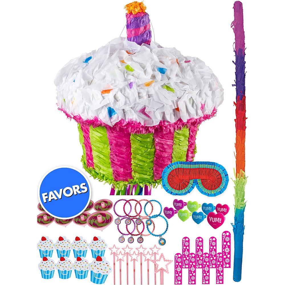Birthday Cupcake Pinata Kit with Favors Image #1