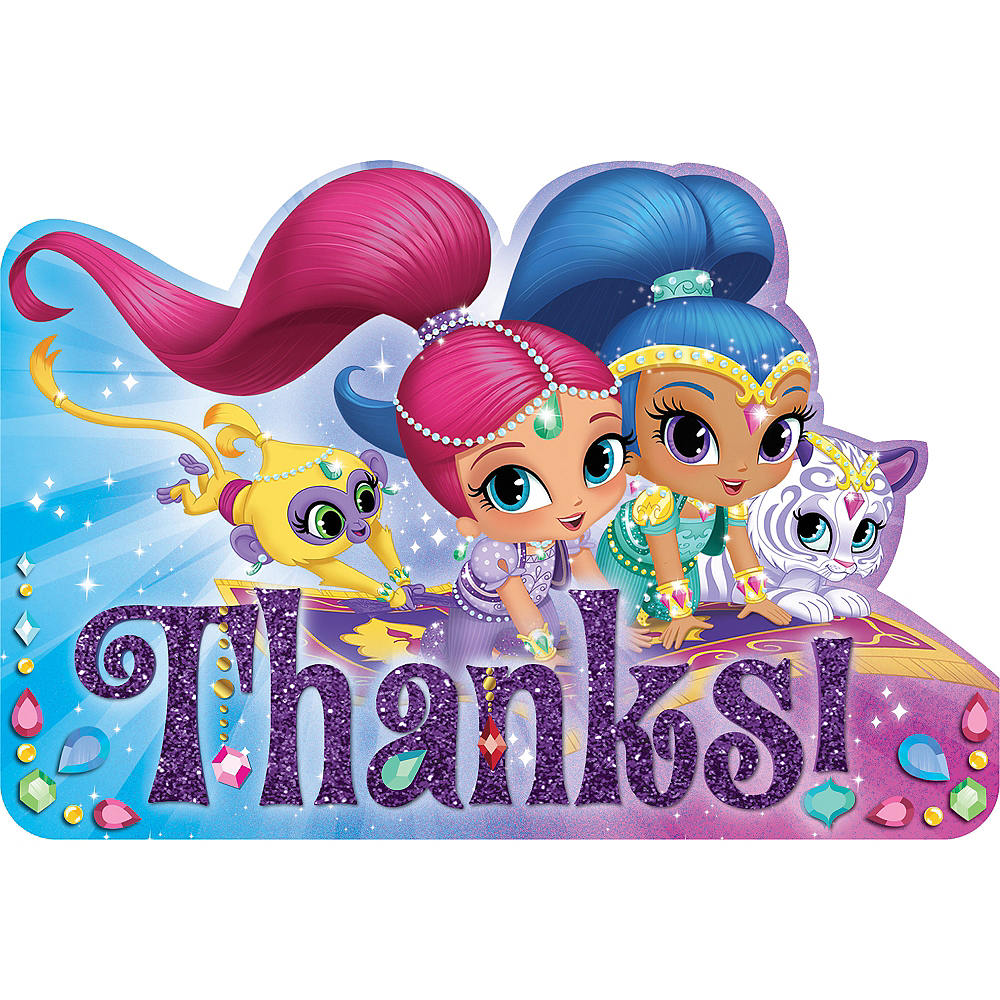 Shimmer and Shine Thank You Notes 8ct Image #1