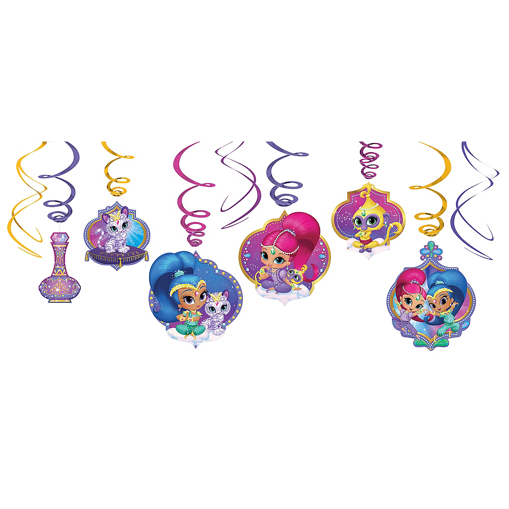 Shimmer and Shine Swirl Decorations 12ct Image #1