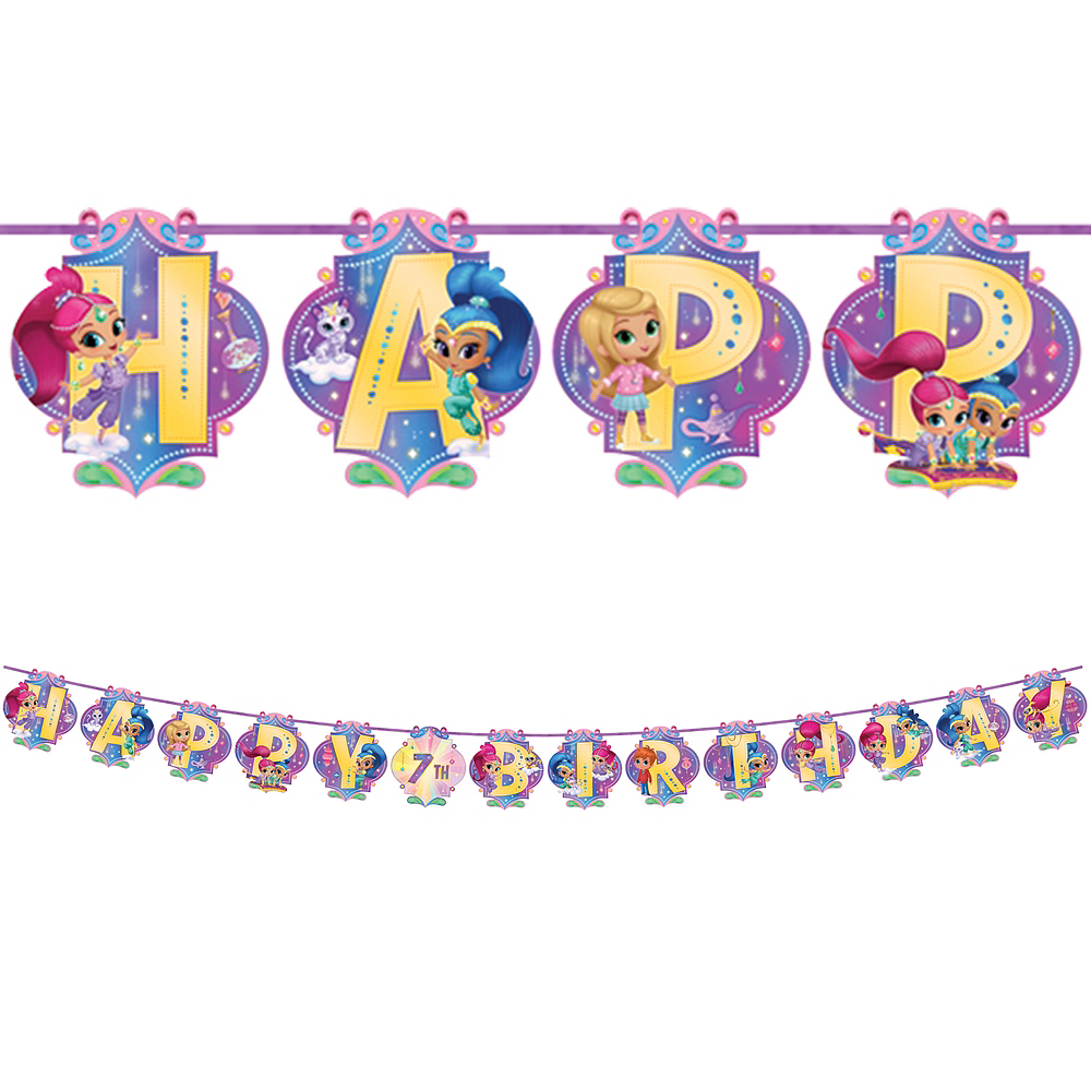 Shimmer and Shine Birthday Banner Kit Image #1