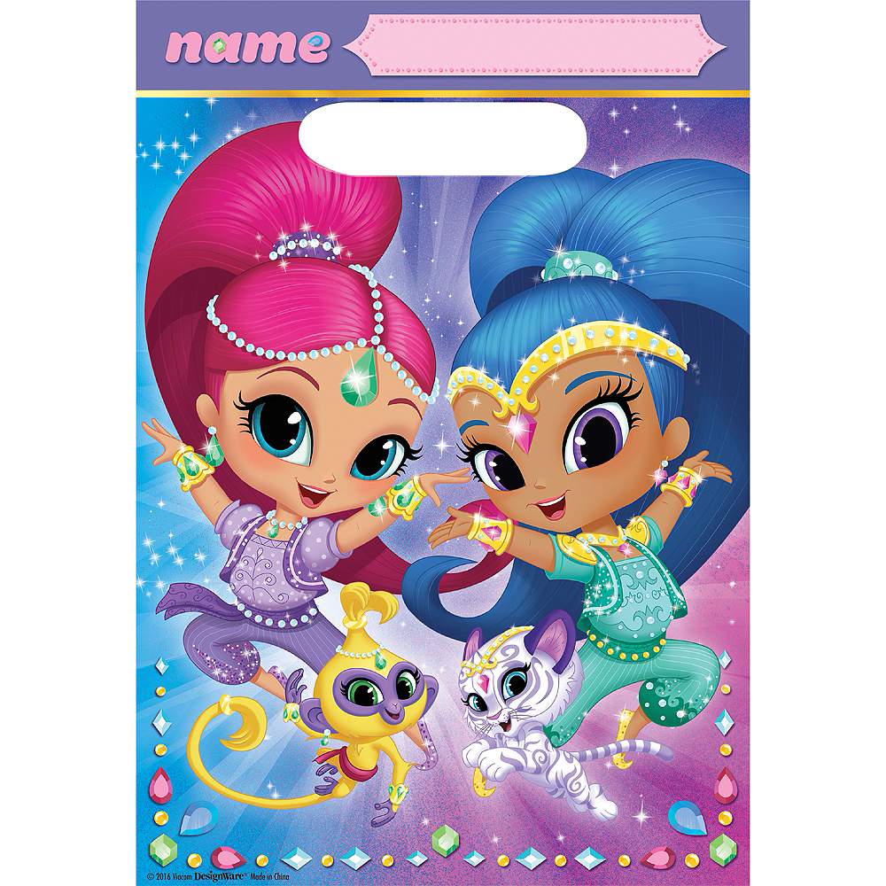 Shimmer and Shine Favor Bags 8ct Image #1