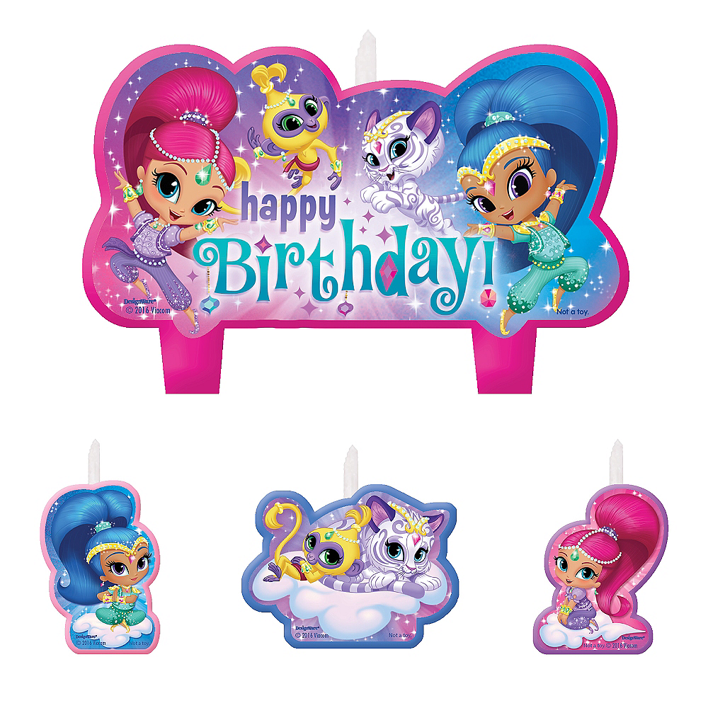 Shimmer And Shine Birthday Candles 4ct Image 1