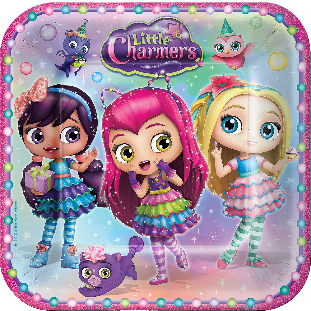Little Charmers Lunch Plates 8ct Image #1