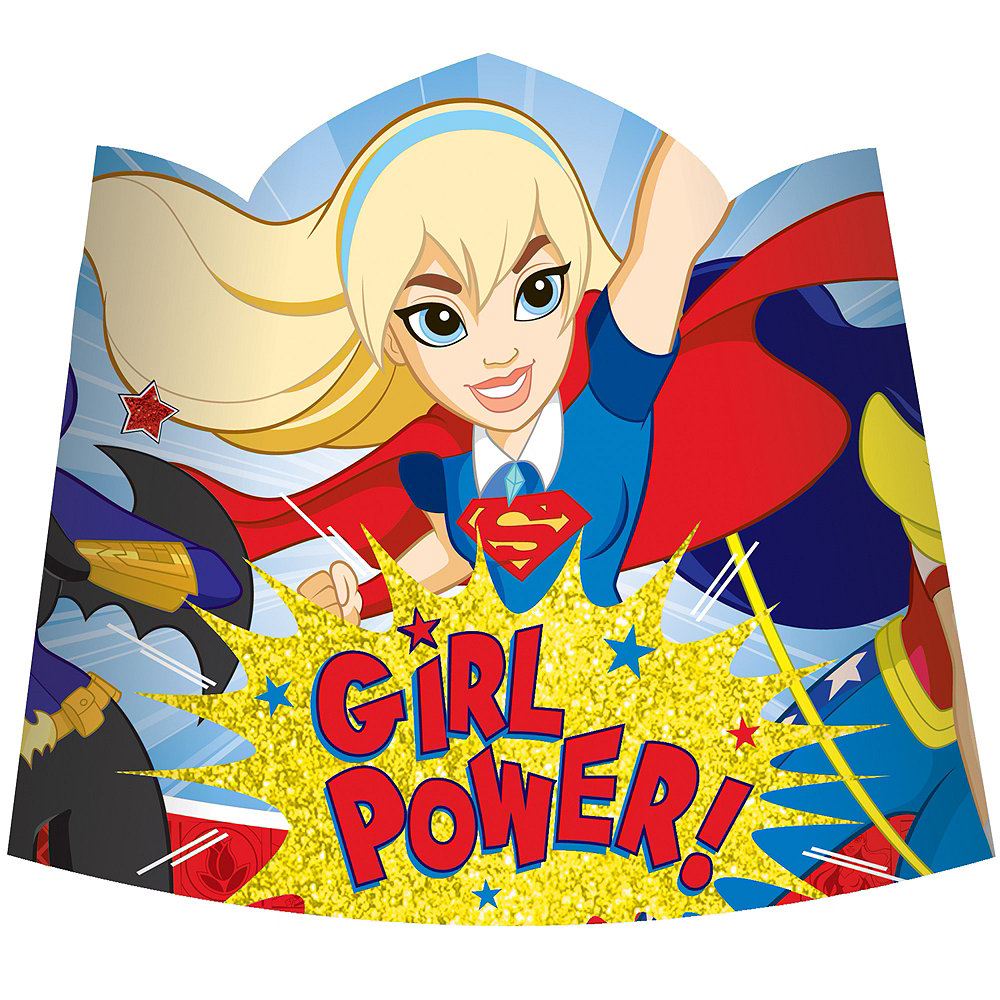 Nav Item for DC Super Hero Girls Tiaras 8ct Image #1