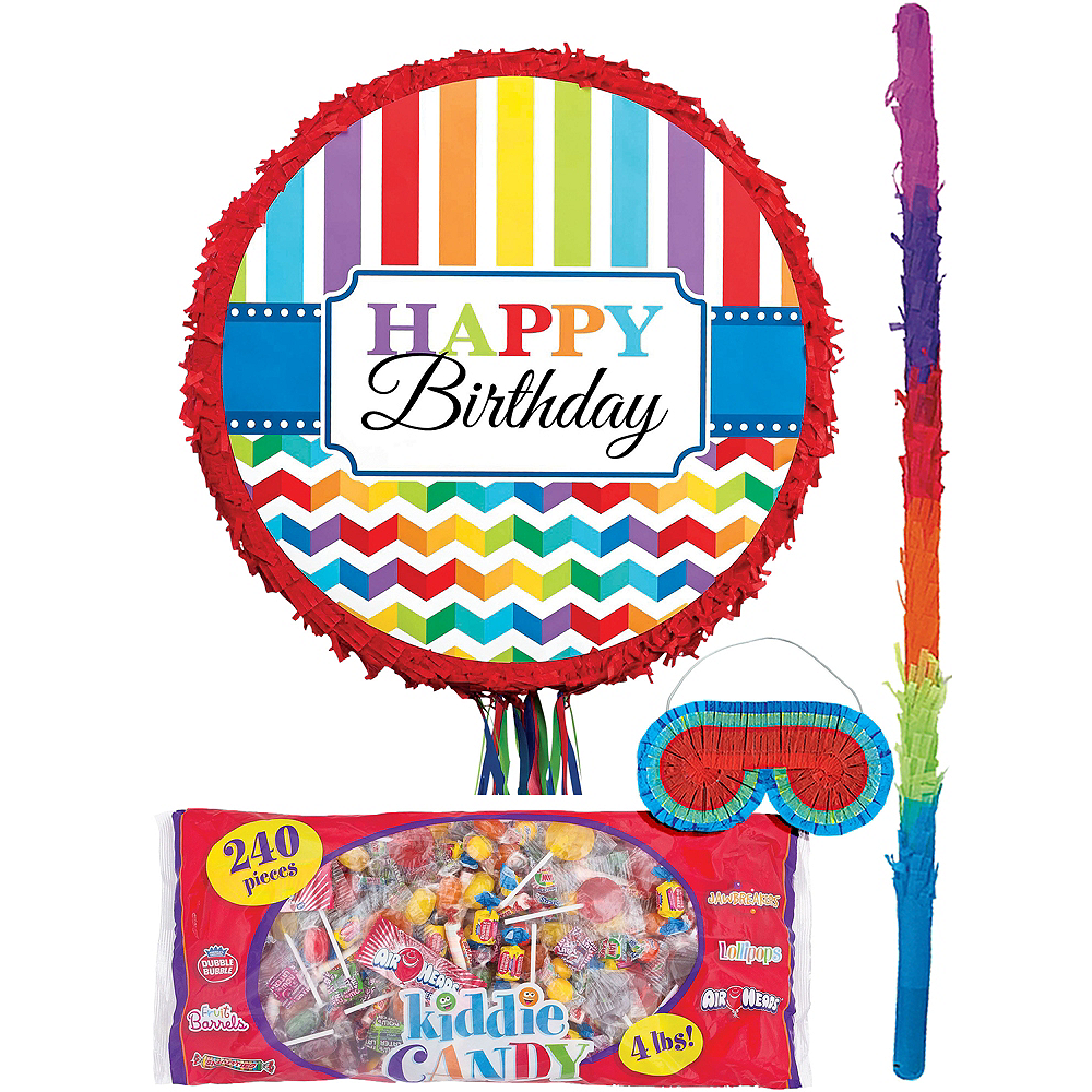Bright Rainbow Chevron Pinata Kit Image #1