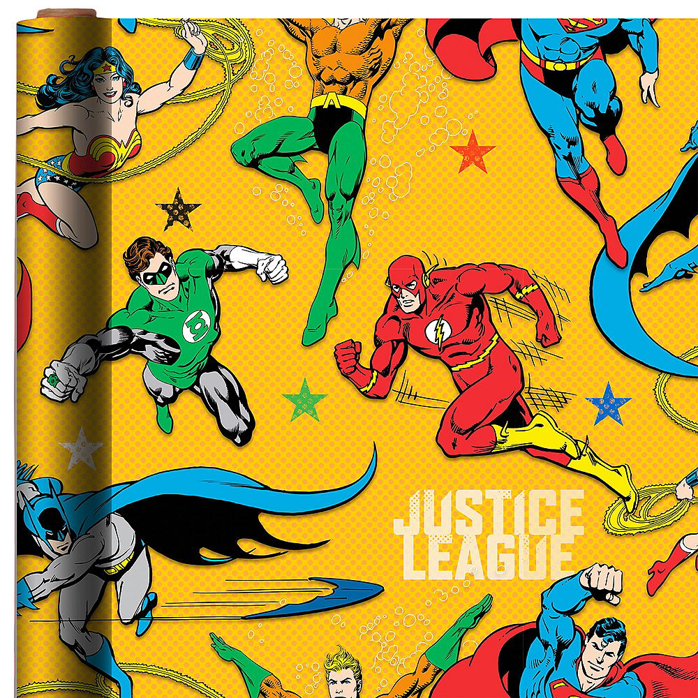 Justice League Gift Wrap Image #1