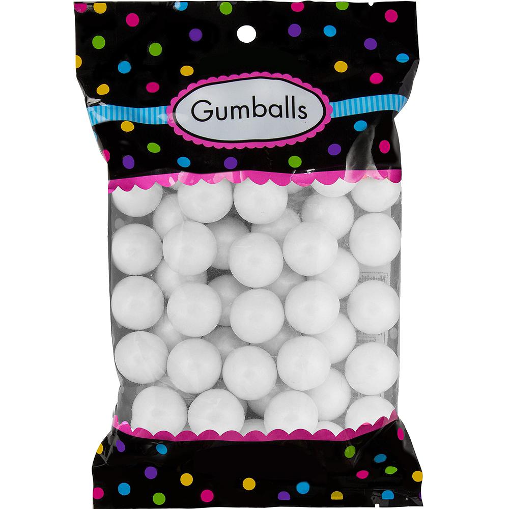 White Gumballs 48pc Image #1