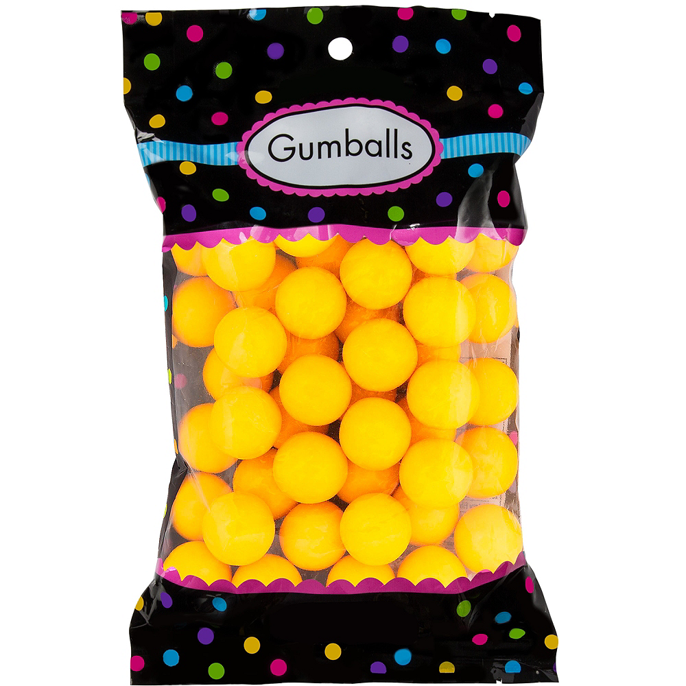 Yellow Gumballs 48pc Image #1