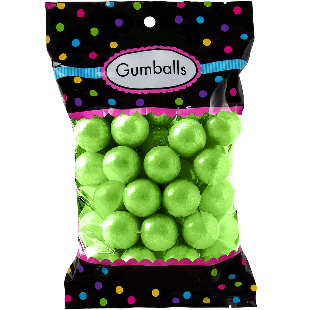 Kiwi Green Gumballs 48pc Image #1
