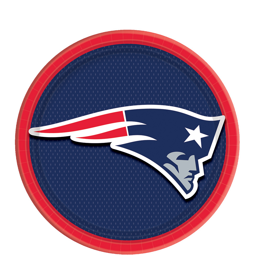 Nav Item for New England Patriots Dessert Plates 18ct Image #1