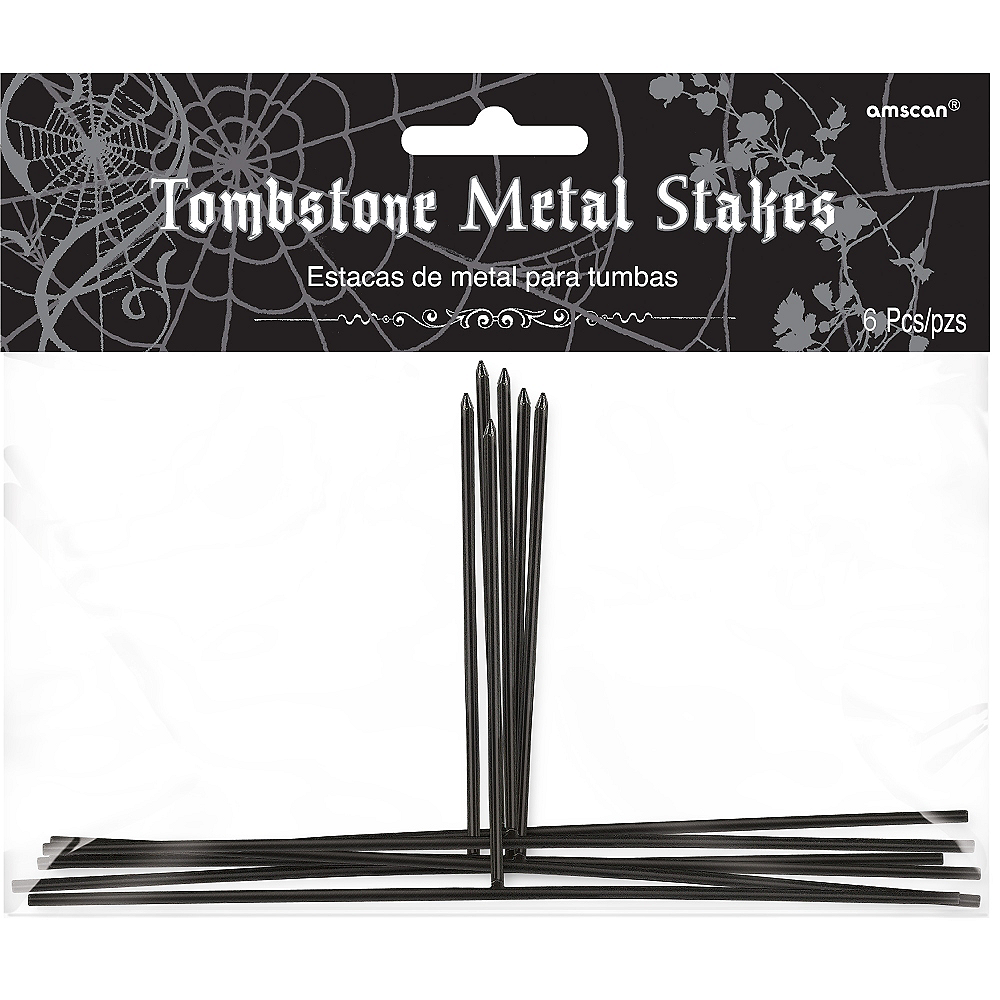 Nav Item for Tombstone Metal Stakes 6ct Image #1