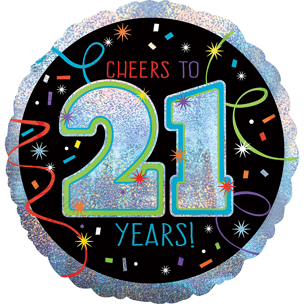 Brilliant 21st Birthday Balloon 18in Image #1