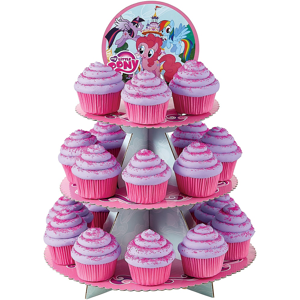 My Little Pony Birthday Cake.Deluxe My Little Pony Cupcake Kit For 24