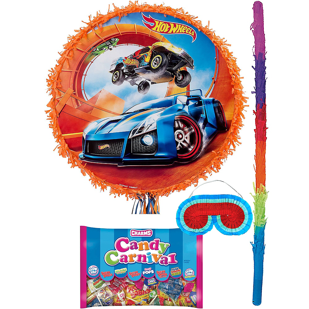 Orange Hot Wheels Pinata Kit Image #1