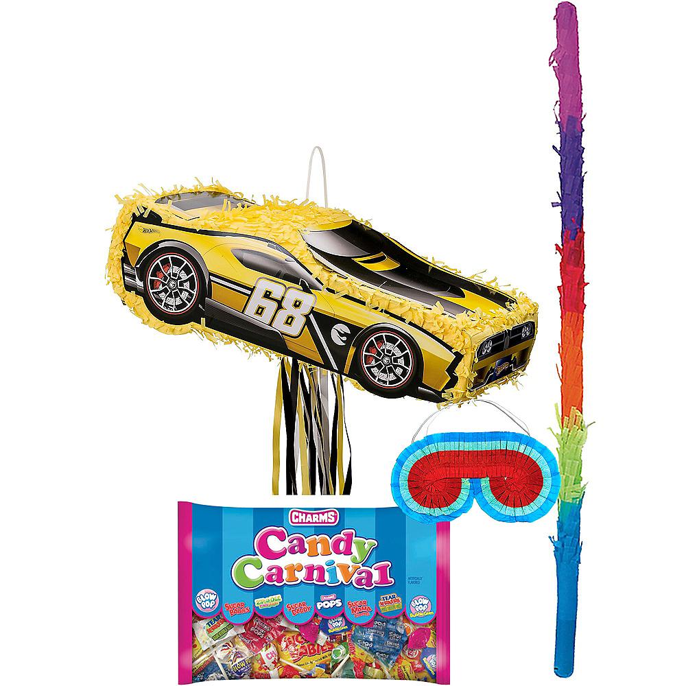 Yellow Race Car Pinata Kit - Hot Wheels Image #1