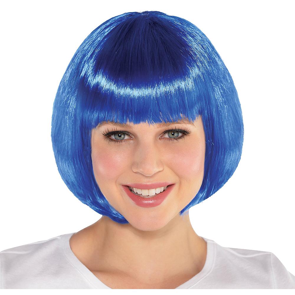 Blue Bob Wig Image #1