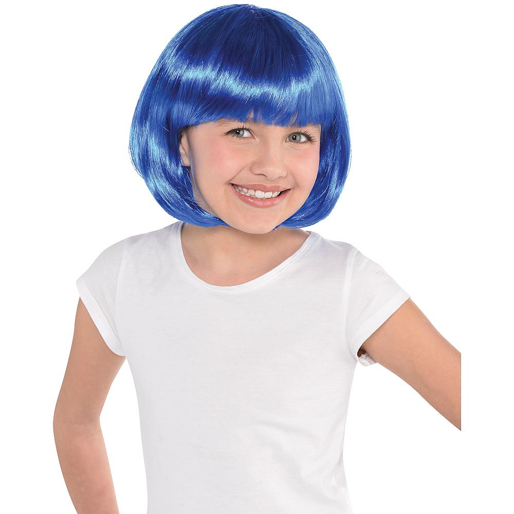 Blue Bob Wig Image #2