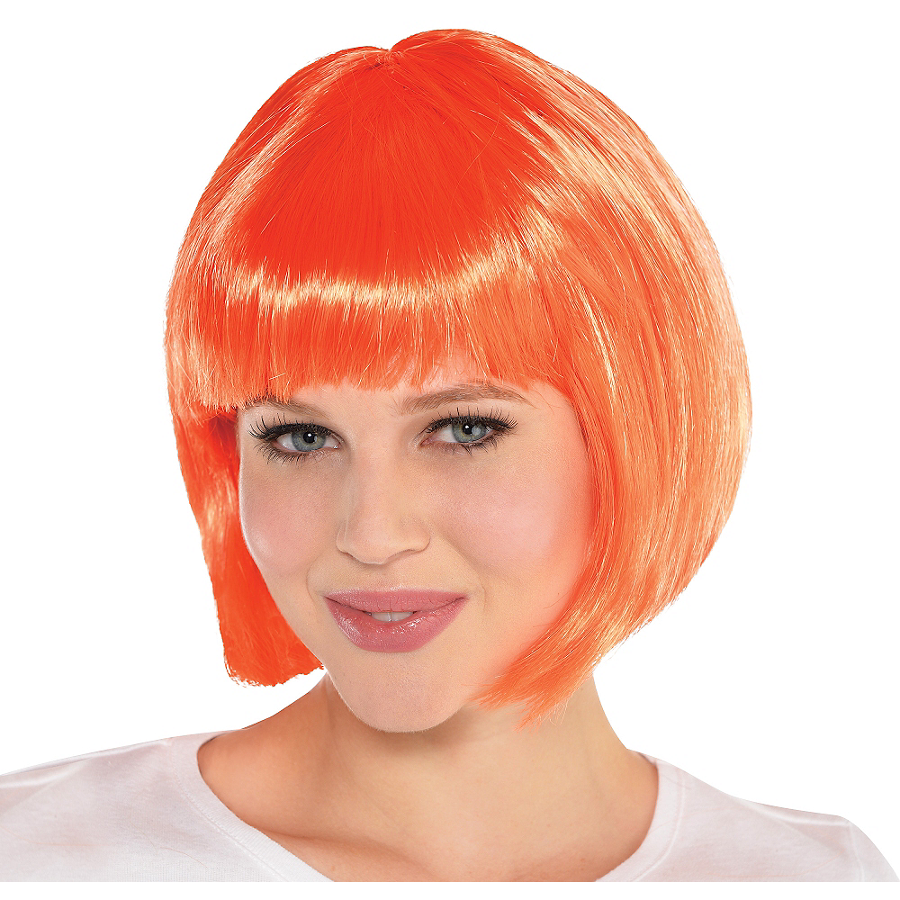 Nav Item for Orange Bob Wig Image #1