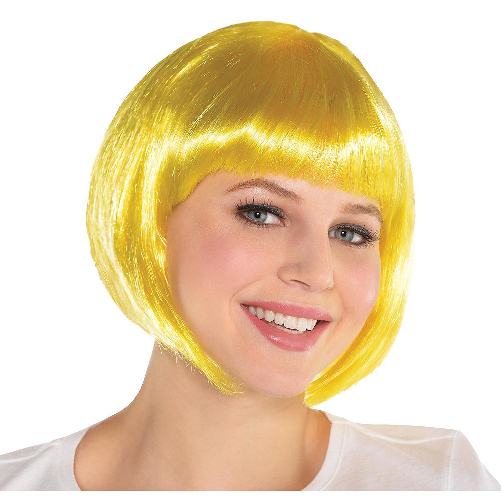 Yellow Bob Wig Image #1