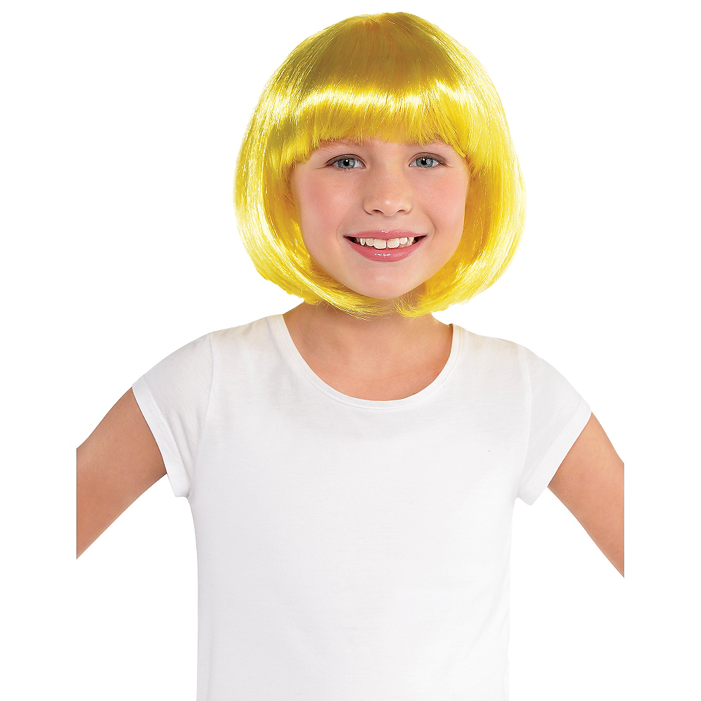 Yellow Bob Wig Image #2