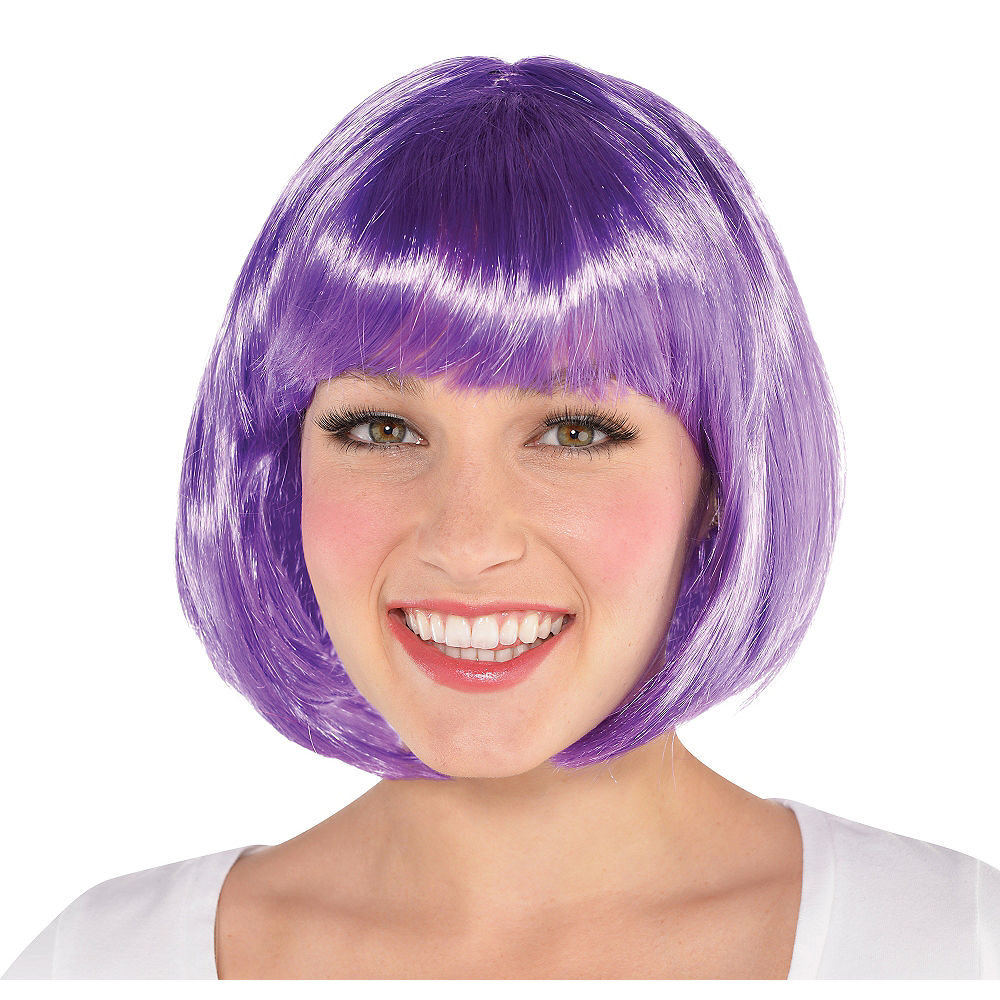 Purple Bob Wig Image #1