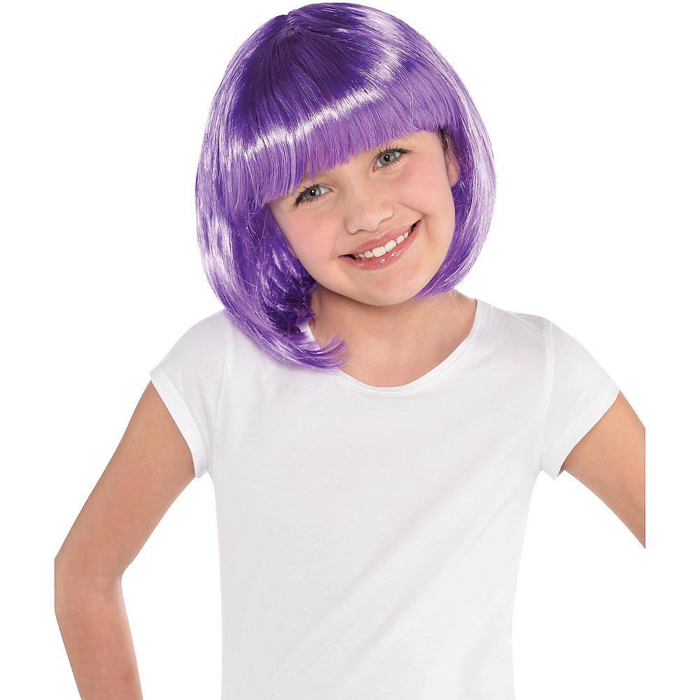 Purple Bob Wig Image #2